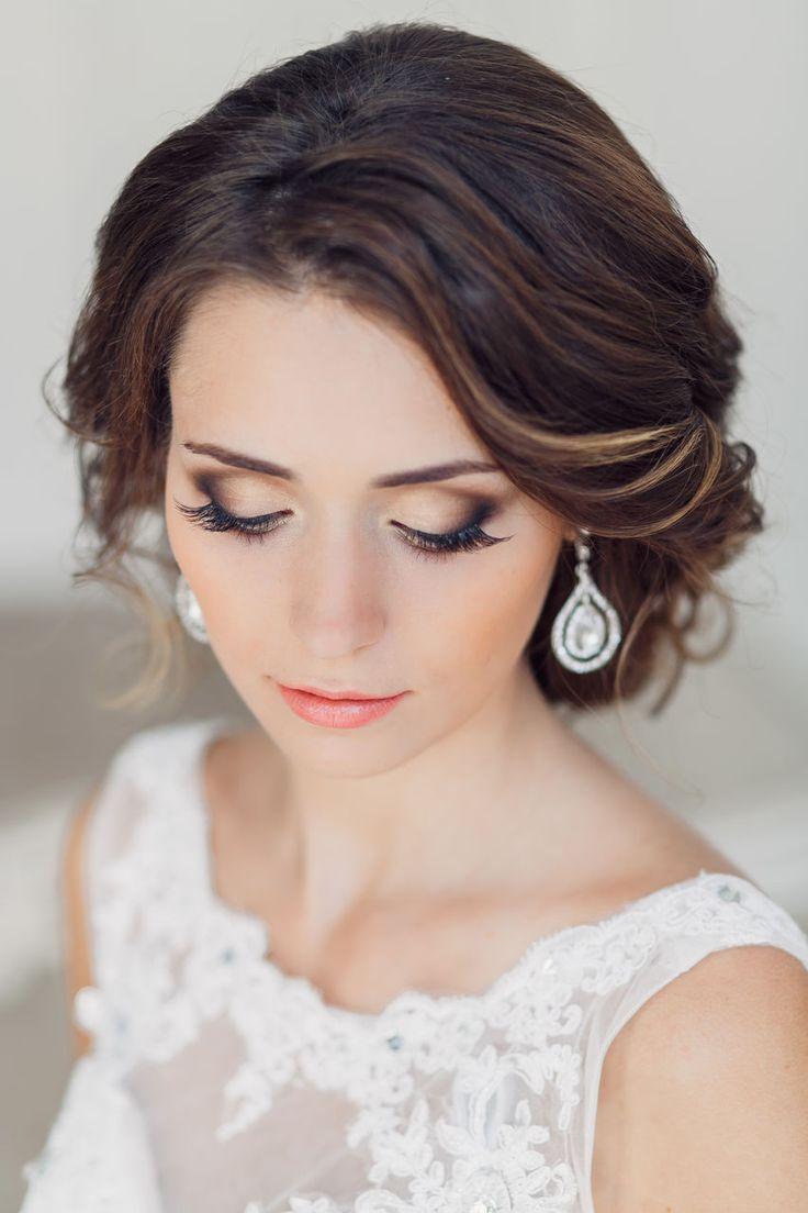 Макияж для невесты с карими